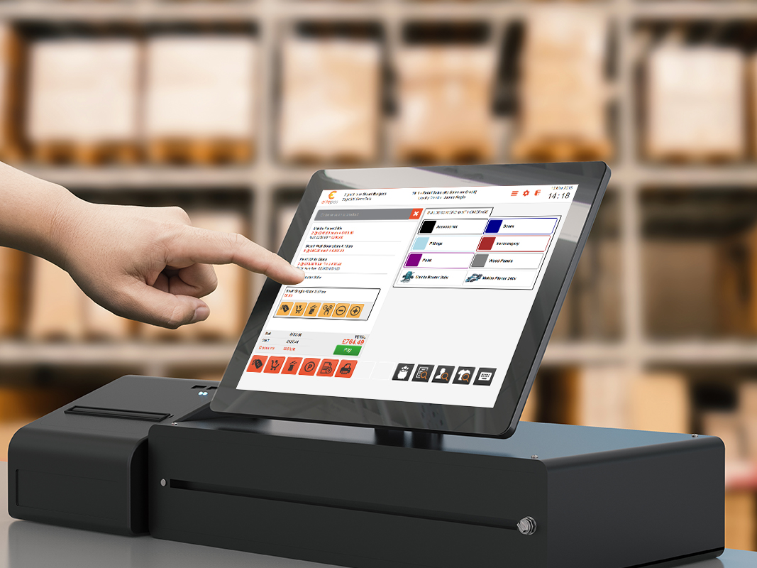 Visual of touchscreen EPoS peripheral